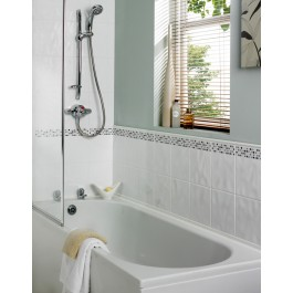 Dimensions 400x250 - White Relief Wall Tile 1269