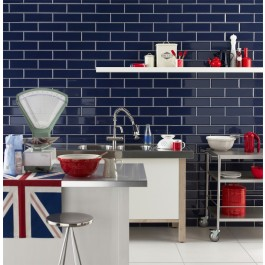 Metro Bevelled Edge 200x100 - Sky Blue Tile 1489