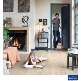 Quick-Step Impressive Ultra Laminate Flooring - Saw Cut Oak Beige IMU1857