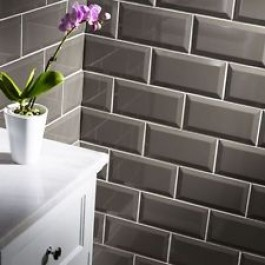 Metro Bevelled Edge 200x100 - Silver Grey Tile 1488
