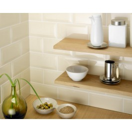 Metro Bevelled Edge 150x75 - Cream Tile 1499
