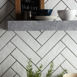 Brick White Glazed Matt Porcelain 310x74 - P10394
