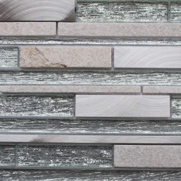 Siena Offset Glass & Metal - Mosaic Sheet 14798PK10