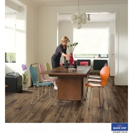 Quick-Step Perspective Wide Laminate Flooring - Reclaimed Chestnut Brown ULW1544