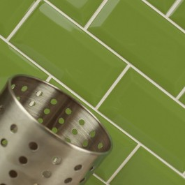 Metro Bevelled Edge 150x75 - Lime Green Tile 1492