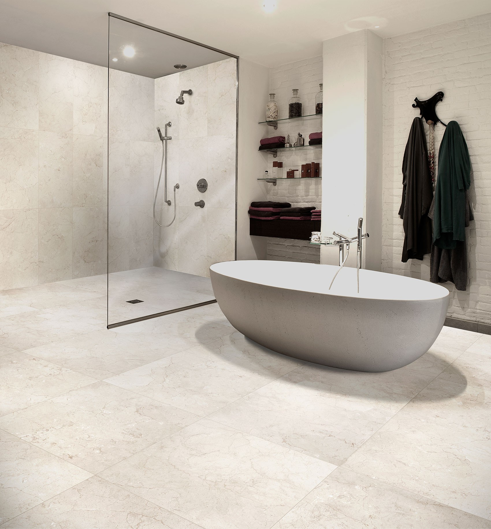 Exceptional Marfil 450x450   White Floor Tile 1224