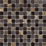 Chocolate Marble & Glass Mosaic