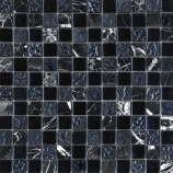 Black Marble & Glass Mosaic