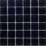 Galaxy Black Sparkle Glass Mosaic (48x48mm)