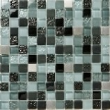 Salvador Glass and Metal Mosaic (23x23mm)