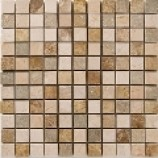 Fossil Stone Mix Mosaic (25x25mm)