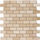 Bahama Polished Beige Mixed Mosaics (25x48mm)