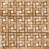Bologna Brown & White Mosaics (300x300mm)