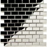 Metal Mosaics Brick Gloss Silver 23mmx48mm)