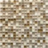 Athens Glass and Stone Beige Mosaics (15mmx15mm)