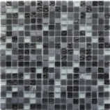 Athens Glass and Stone Black Mosaics (15mmx15mm)