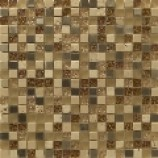 Athens Glass and Stone Travertino Mosaics (15mmx15mm)