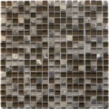 Athens Glass and Stone Brown Mosaics (15mmx15mm)