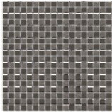 Athens Glass and Stone Metal Mix Mosaics (15mmx15mm)