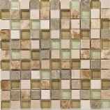 Catania Fossil Mix Marble and Glass Mosaics (25mmx25mm)