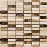 Parma Polished Marble Mosaics Beige (15mmx48mm)