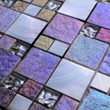 Bologna Modular Glass & Stone Mix Multi Colour - Mosaic Sheet 14736PK10