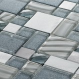 Brushed Metal Diamond Blue/Grey - Mosaic Sheet 11148PK10