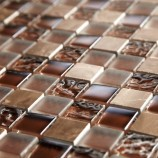Chocolate Marble & Glass 23mm - Mosaic Sheet 6595PK10