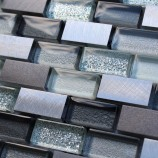 Florence Metal and Grey Glitter - Mosaic Sheet 14729PK10