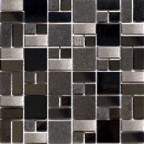 Metal Mosaic Java Black/Metal (300mmx300mm)