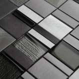 Milan Grey Glass Metal - Mosaic Sheet 13463PK10