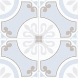 Ribera Blue Matt Patterned Ceramic Tile 450x450mm - P11034