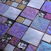 Bologna Modular Glass and Stone Mix Multi Colour - Mosaic Sheet 9664PK10