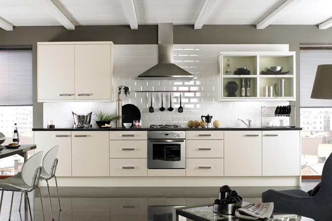 Metro bevelled edge tile white 200mmx100mm metro - Kitchen without wall tiles ...